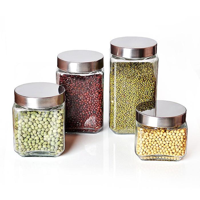 Glass Storage Jar Honor Bottle